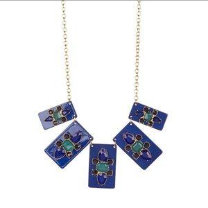 | HP | Lucite medallion statement necklace